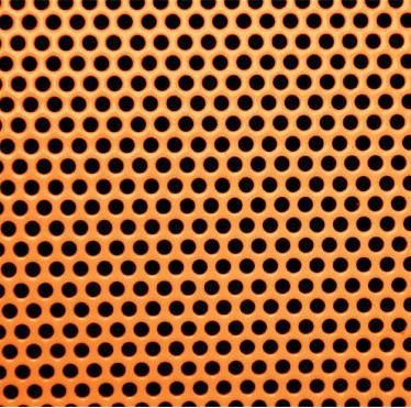Vörösréz Perforált lemez